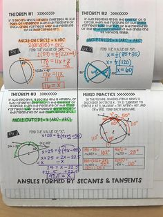 Angles Formed by Secants and Tangents Foldable by Mrs. Math Tutor, Math Skills, Math Lessons, Teaching Math, Teaching Geometry, Gcse Math, Teaching Ideas, Math Help, Fun Math
