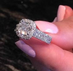 The existence of the diamond has positively impacted our society, along with others for ages. Diamond jewelry began as a luxury for many wealthy Pretty Rings, Beautiful Rings, Diamond Rings, Diamond Jewelry, Halo Rings, Dream Engagement Rings, Expensive Engagement Rings, Expensive Wedding Rings, Solitaire Engagement