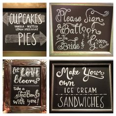 Wedding Chalkboard Signs I did for my neighbor with Chalk pens!