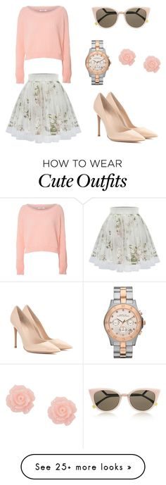 """""""Cute Lil Outfit"""" by tametheocean on Polyvore featuring мода, Glamorous, Fendi, Marc by Marc Jacobs и Gianvito Rossi"""