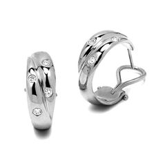 Tiffany Hoop Diamond Earrings