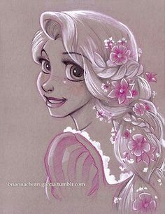 Day #2: Favorite princess- Rapunzel is so cute in Tangled! But I really like Ariel and Belle as well. It was hard choosing my favorite.....lol