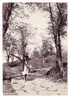 """""""Frascati, Route de Tusculum,"""" Italy, Wilhelm von Pluschow, ca. 1890's."""