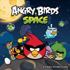 Angry Birds in Space Mini Wall Calendar: Featuring a dozen images from the new Angry Birds Space, a space version of the popular Angry Birds mobile game, this mini wall calendar for 2013 is perfect for any fan of this popular app.  $6.99  http://www.calendars.com/Video-Games/Angry-Birds-in-Space-2013-Mini-Wall-Calendar/prod201300011338/?categoryId=cat130002=cat130002#