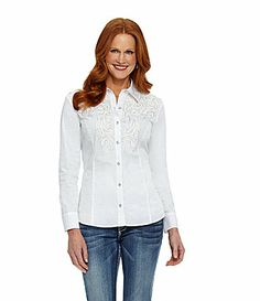 Reba Metallic Soutache Shirt #Dillards