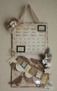 Scraps of Mine: Altered Magnetic Calendar