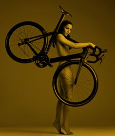 Victoria Pendleton preparing for naked cyclo-cross or just another Pendleton/Cycling promotion shoot.