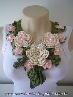 Crochet jewelry by Silvia Gramani. Talk to LiveInternet - Russian Service Online Diaries