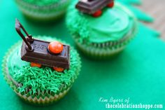 Lawnmower Cupcakes | Community Post: 15 Adorable Treats To Make This Father's Day