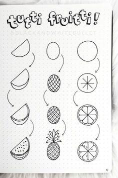 Kreativ: Doodles 25 Best Step By Step Food Doodles For Your Bujo Crazy Laura Doodle Art Bujo Crazy doodle art Doodles Food Kreativ LAURA Step Easy Doodles Drawings, Easy Doodle Art, Cute Easy Drawings, Easy Art, Simple Art, Easy Doodles To Draw, How To Draw Doodle, Things To Doodle, Cute Easy Doodles