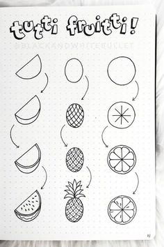 Kreativ: Doodles 25 Best Step By Step Food Doodles For Your Bujo Crazy Laura Doodle Art Bujo Crazy doodle art Doodles Food Kreativ LAURA Step Easy Doodles Drawings, Easy Doodle Art, Cute Easy Drawings, Easy Art, Simple Art, How To Draw Doodle, Cute Easy Doodles, Doodle Art Drawing, Doodle Sketch
