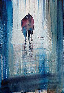 Acuarelas/Watercolors Oscar Alvarez:   Referencia: E-2  A...