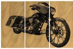 Vintage Style Harley   Motorcycle Screen Print / by CedarWorkshop, $119.00