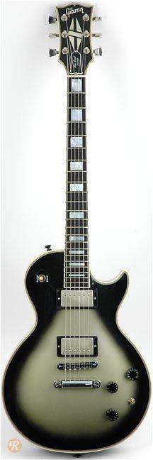 GIBSON Les Paul Custom 1985 Silverburst   Reverb