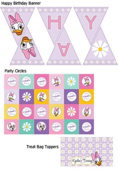 Daisy Duck Printable Party Pack by LucidInvites on Etsy, $20.00