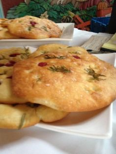 Raspberry Rosemary Foccacia, part of the 2nd Annual Garlic Harvest Dinner at High Meadow Farm, Westminster West, Vermont, 2013.