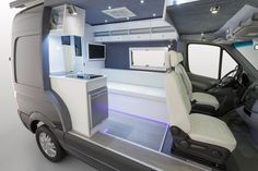 Mercedes' Sprinter camper concept has a vibrant look thanks to its white interior and LED lighting (Photo: Mercedes-Benz)