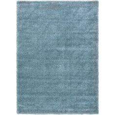 Unique Loom Luxe Solo Rug, Blue
