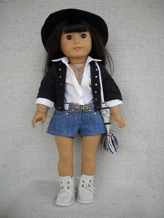 American Girl Doll Clothes  8 piece Rock outfit by Frenchieandme
