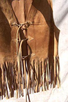 vintage fringed suede vest via deadlyvintage.com