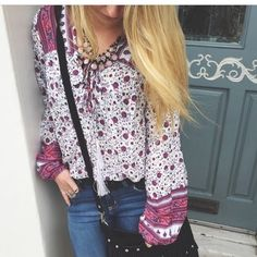 ISO Lf boho top In search of this shirt from lf! Has a front tie with tassels and bell sleeves. Looks very boho. Please let me know if you have this LF Tops