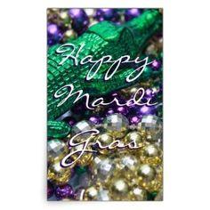 Happy Mardi Gras Bead Throws Custom Gator Decals Rectangular Sticker