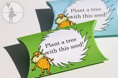 In spirit of the Lorax, our seed pill boxes. Featured in our Invitation Package.
