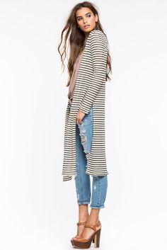 e0729951916c OPEN FRONT SIDE SLIT CARDIGAN - Buscar con Google Ropa, Usar, Cabos,  Cardigan