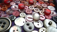 Button Mosaic - would be neat with a lacquer seal