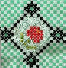 Resultado de imagem para bordado em tecido xadrez graficos