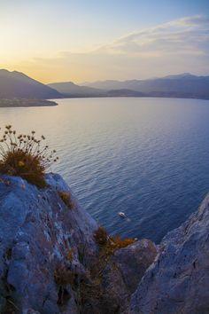 Sunset in Monemvasia, Greece by Davide Manzoni Mykonos, Santorini, Dc Travel, Places To Travel, Places To See, Monemvasia Greece, Beautiful Places To Visit, Greek Islands, Greece Travel