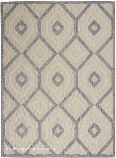 Moret Power Loom Cream/Gray Indoor/Outdoor Use Rug Modern Outdoor Rugs, Indoor Outdoor Area Rugs, Modern Rugs, Cream Area Rug, Cozumel, Power Loom, Colorful Rugs, Rug Size, Hand Carved