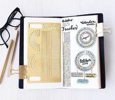"""Calendar Wheel / Tracker"" Bullet Journal / Planner Stencil - Jayden's Apple"