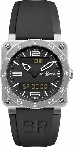 e58de07316a Bell  amp  Ross BR0392-AVIA-ST Men s Watch 3 O Clock