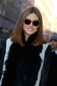 Olivia Palermo. Love this hairstyle. Wish I could pull it off.