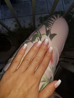 French manicure with sponge...