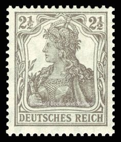 EBS-Germany-1916-Germania-2-Pfennig-stamp-Michel-No-98-MNH