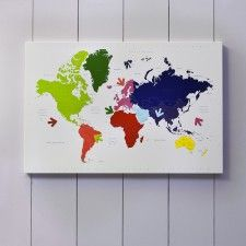 Magnetic World Map Memo Board