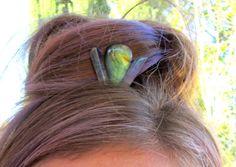 Gemstone Crown Mini Tiara Hair Jewelry Labradorite Hair by tarren