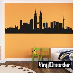 Kuala Lumpur Skyline Vinyl Wall Decal or Car Sticker SS046