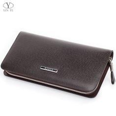 YINTE Men's Clutch Wallets Leather Men Purse Zipper Wallet Fashion Brand Clutch Bag Small Handbag Wrist Bag Portfolio T028-1 -- AliExpress Affiliate's buyable pin. Click the VISIT button to enter www.aliexpress.com