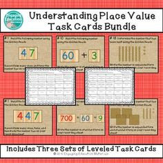Understanding Place Value with the Montessori Golden Beads Task Cards BUNDLE Classroom Hacks, Classroom Resources, Teaching Resources, 2nd Grade Centers, Standard Form, 3rd Grade Classroom, Place Values, Behavior Management, Task Cards