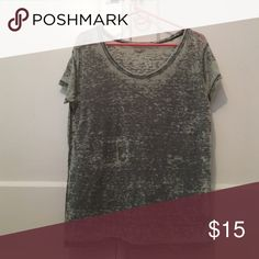 Grey acid wash T shirt So soft and comfortable. Can go w anything. A great basic shirt. Purchased at urban outfitters Urban Outfitters Tops Tees - Short Sleeve