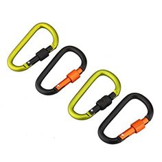 Odsports 4 PcsLot D Shape Aluminum Carabiner Hook Mountaineering Buckle Saw Aluminum Alloy 8cm Lock Carabiner Hook >>> You can get additional details at the image link.