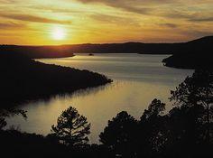 Sunset over Beaver Lake, Arkansas Photographer: Copyright by Tim Ernst