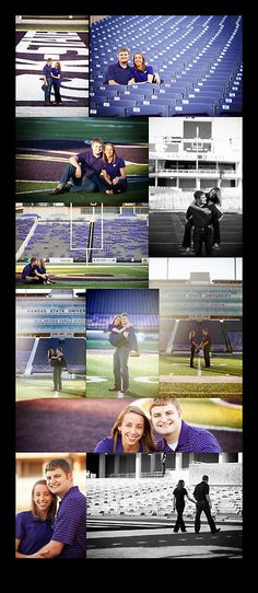 Bill Snyder Family Stadium K-State Engagement Session by DLC Photography