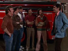 Roy DeSoto, Johnny Gage, Mike Stoker, Marco Lopez, Chet Kelly, and Captain Hank Stanley | The crew of Station 51