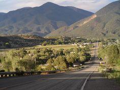 Highway into Questa, NM
