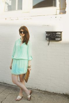 outfit: minty mint