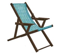 Beach Lounge Chair Plans - Sling Chair Plans For Patio, Beach or Deck